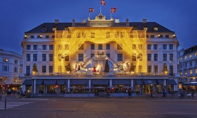 A very special Christmas display at the Hotel d'Angleterre in Copenhagen.
