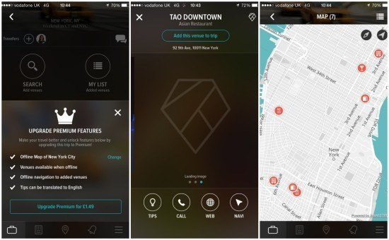 create trips app screen 4