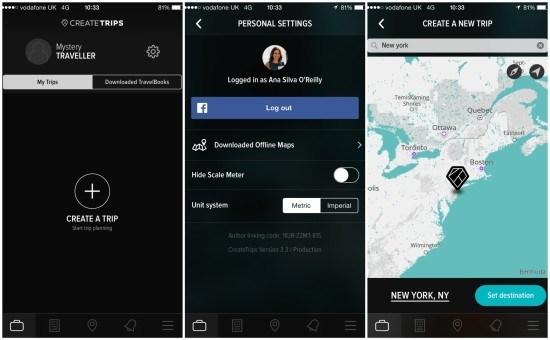 create trips app screen 1
