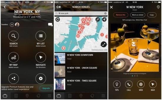 create trips app screen 2