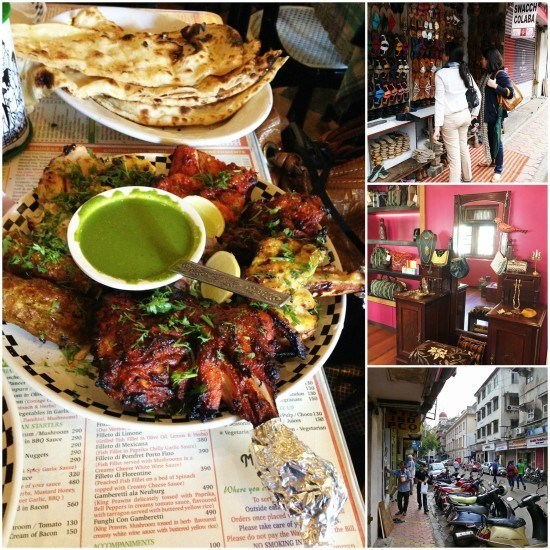 Shopping in Colaba and having our first proper Indian meal - a mixed tandoori grill.