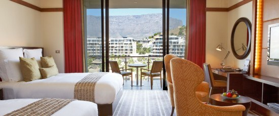 Our double queen room, with incredible views! Photo by hotel.