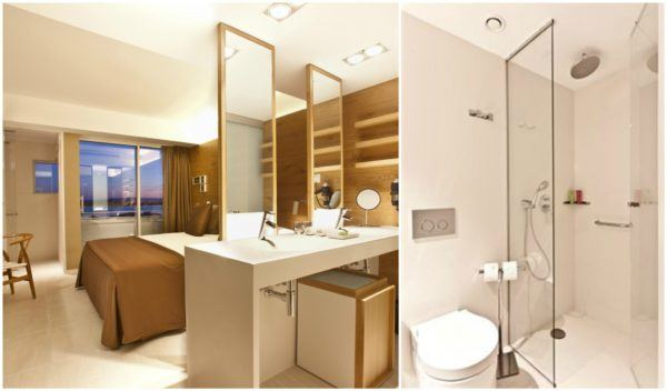OD Port Portals Majorca Hotel open plan bathroom