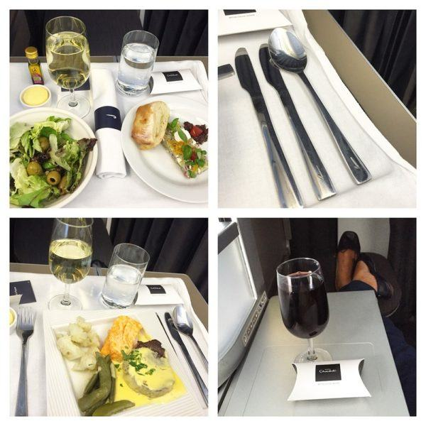 British Airways A380 Business Class Club World Review meal