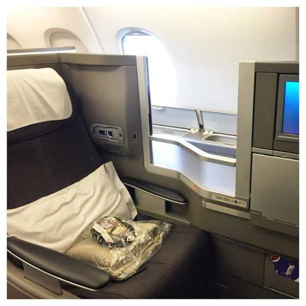 British Airways A380 Business Class Club World Review seat