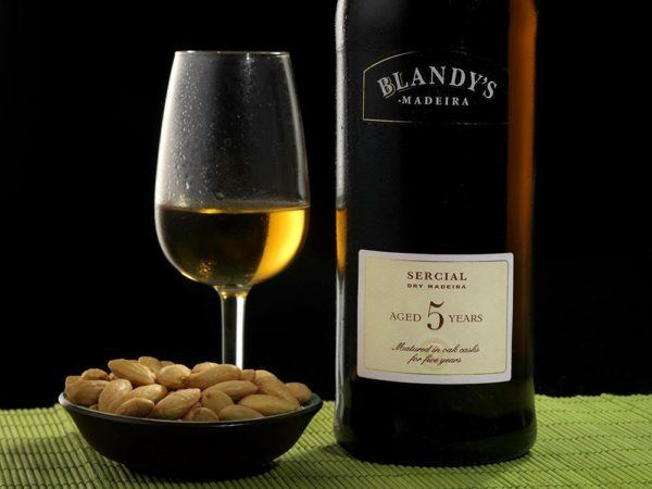 Madeira Wine Guide Blandy Serial 5 years with almonds