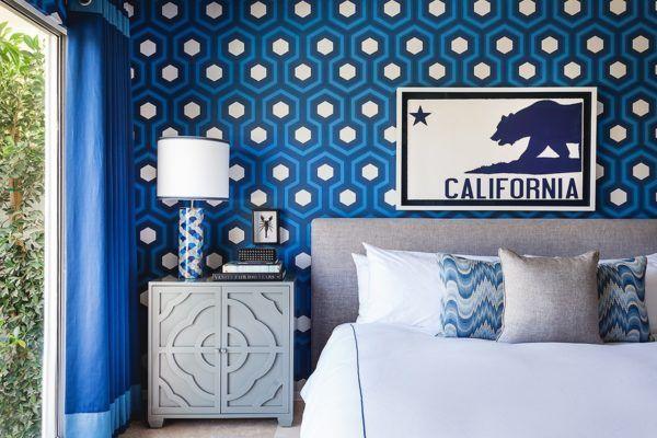 blue door palm springs blue bedroom