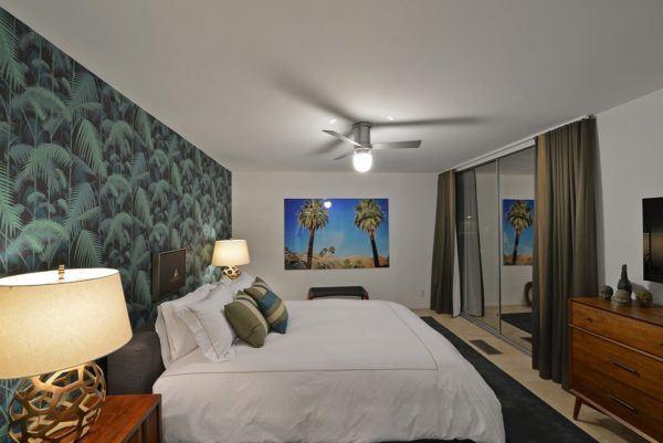 blue door palm springs green bedroom 2