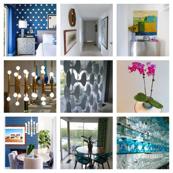 blue door palm springs jonathan adler decor details