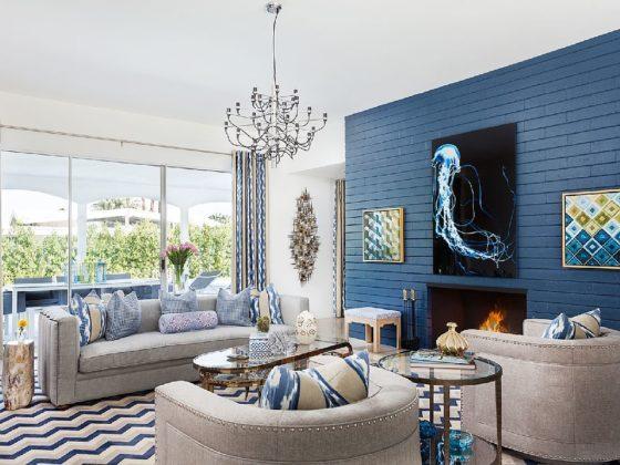 blue door palm springs living room