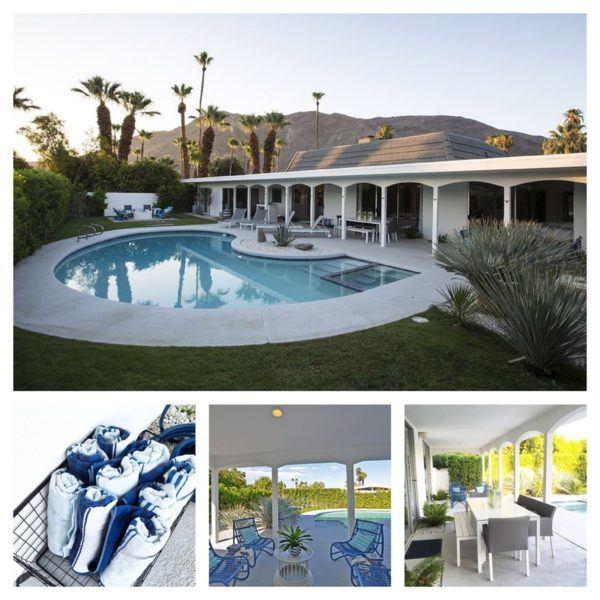 blue door palm springs outdoor area pool