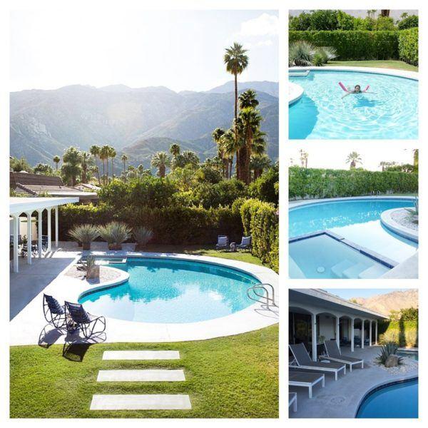 blue door palm springs pool area