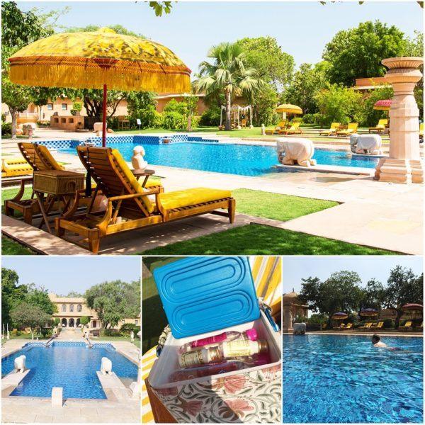 Oberoi Rajvillas Jaipur India swimming pool