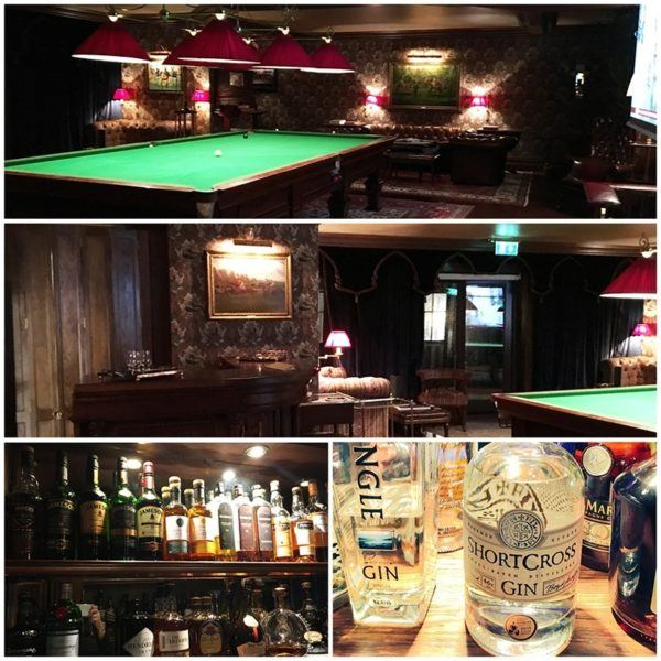 ashford castle luxury hotel ireland billiards room bar gin irish whiskey