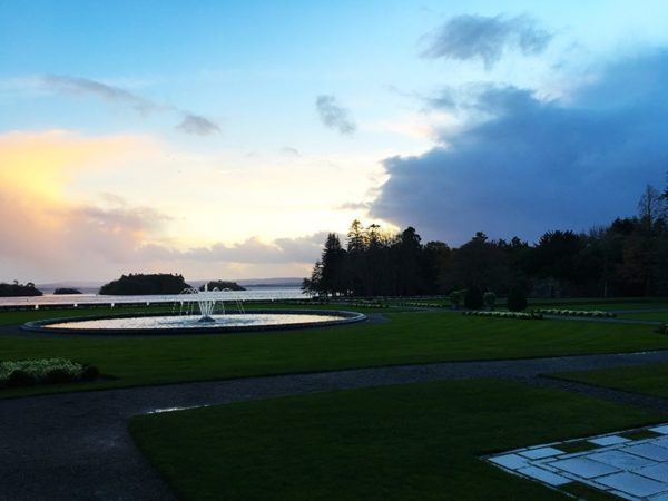ashford castle luxury hotel ireland grounds sea view