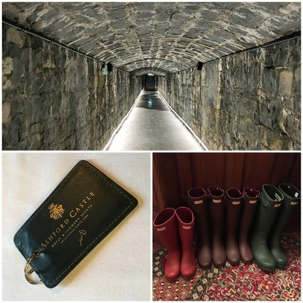 ashford castle luxury hotel ireland hunter boots wine cellar room keys