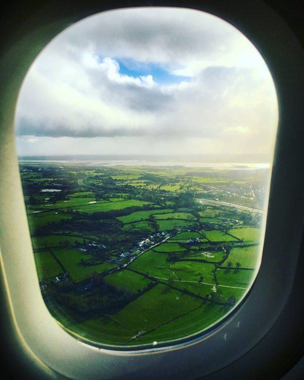 landing shannon airport from london heathrow aer lingus british airways oneworld ashford castle