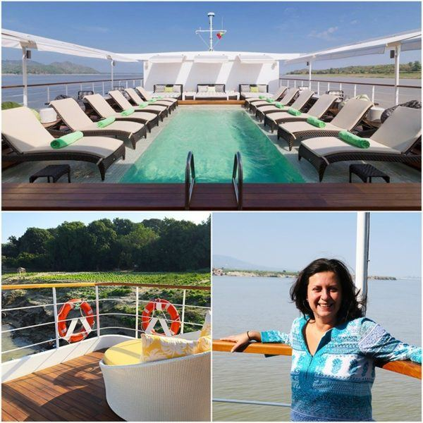 strand cruise myanmar bagan to mandalay luxury pool and sundeck