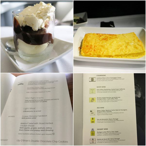 flight review american airlines business class london to miami B777-300 meal and drinks