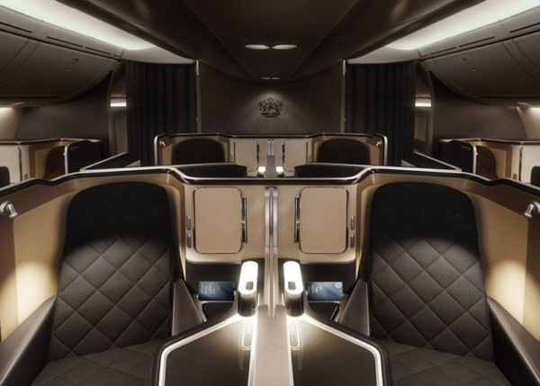 british airways first class seat b 787 dreamliner cabin view