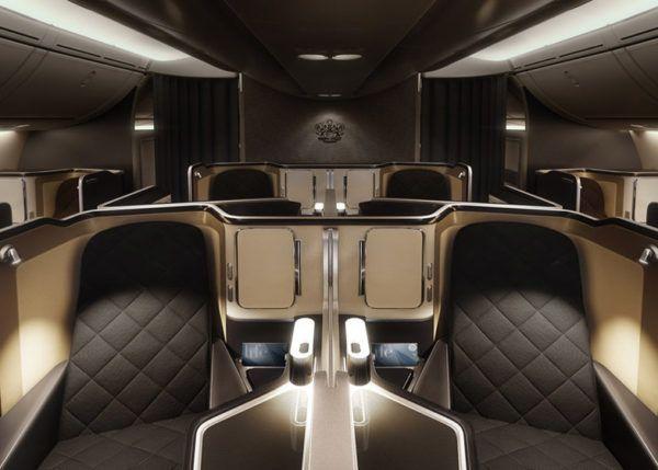 british airways first class seat b 787 dreamliner cabin view