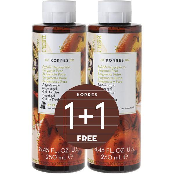 korres bergamot pear shower gel 2 for 1
