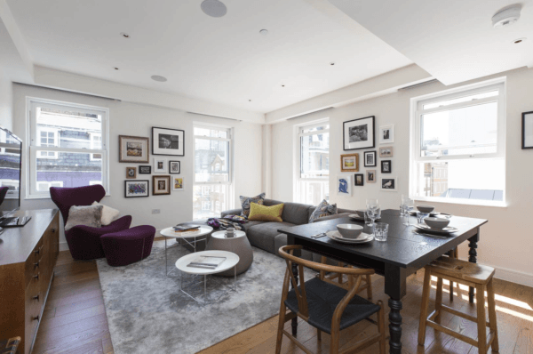 onefinestay london marylebone mayfair luxury apartment rental living room james II