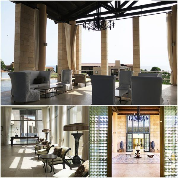 The Romanos Luxury Collection Costa Navarino Sovereign Luxury Holidays hotel lobby