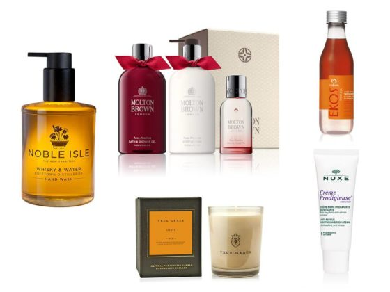 top-5-beauty-essentials-autumn-fall-noble-isle-molton-brown-rosa-absolute-nuxe-prodigieuse-true-grace-amber-candle-natura-brasil-shower-oil
