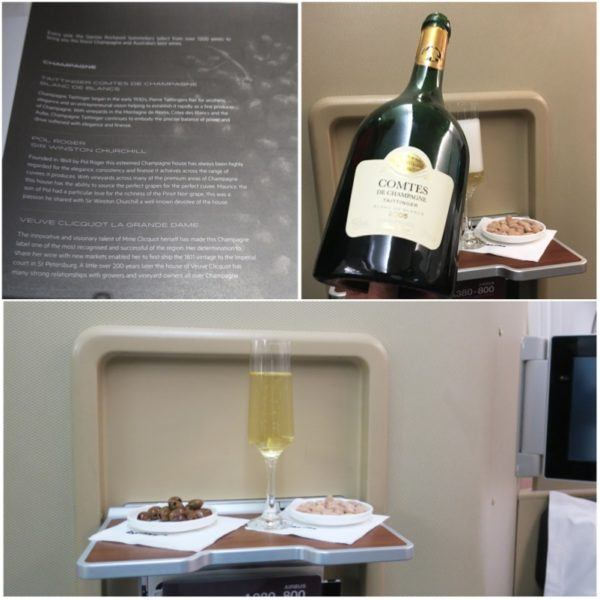 qantas flights first class drinks