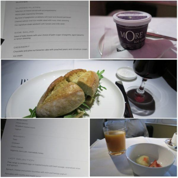 flight review qantas first class 380 dubai to london dinner and breakfast sleeper service