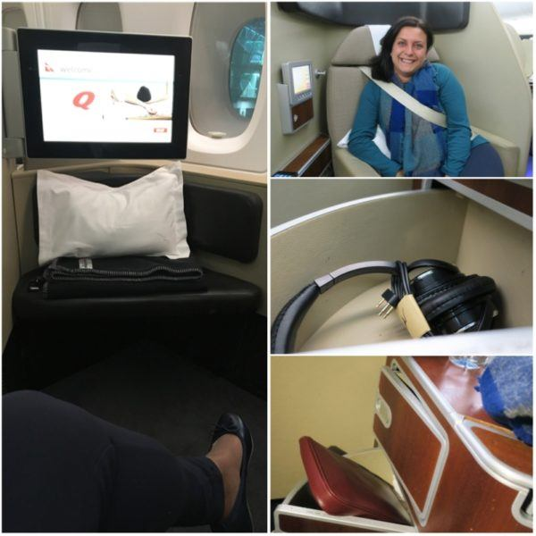 flight review qantas first class 380 dubai to london first class suite details