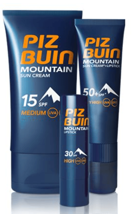 piz buin mountain sunscreen and lip balm spf 50
