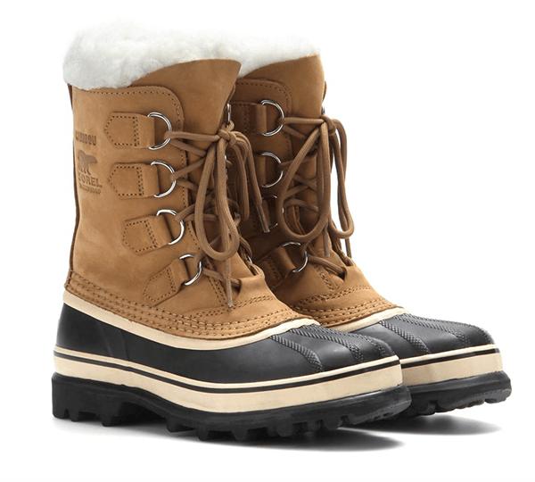 top-5-luxury-ski-apres-ski-boots-shoes-sorel-caribou-beige-black-weatherproof-waterproof-shearling-boots-men-women