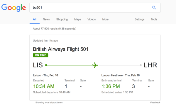 google flight results 2