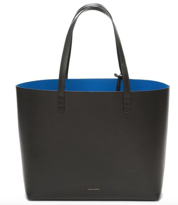 mansur gavriel black tote bag copy