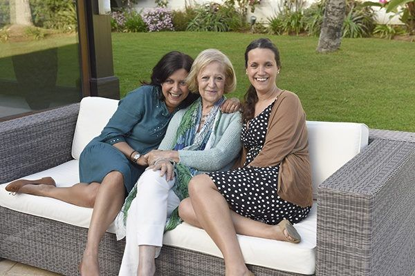 Just us girls - my sister and I enjoying a weekend away with our Mother in Marbella. Photo by Michelle Chaplow.