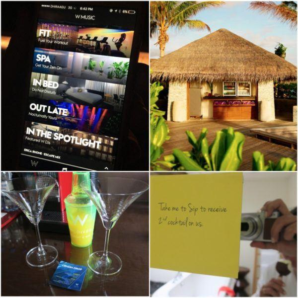 w maldives starwood spg luxury hotel beach villa details free cocktails sweet spot