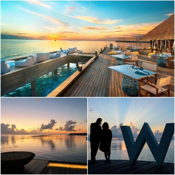 w maldives starwood spg luxury hotel sunset