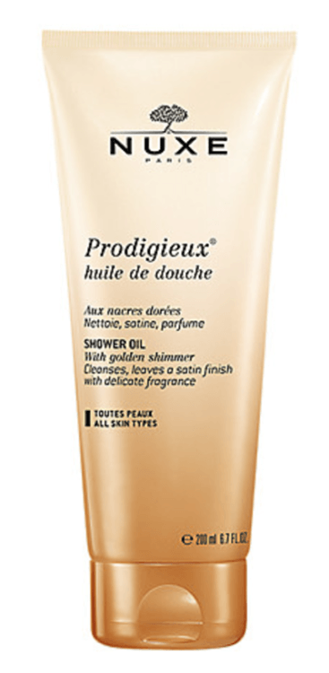 NUXE Prodigieux Shower Oil with Golden Shimmer top 5 spring beauty essentials