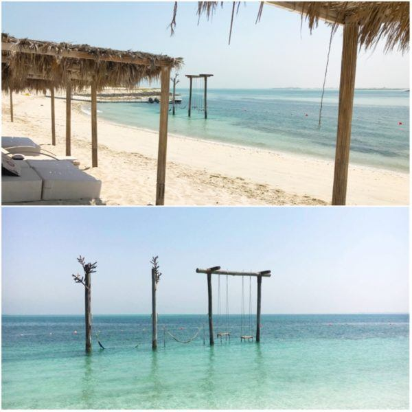 private island abu dhabi zaya nurai day trip ana beach bar sun loungers