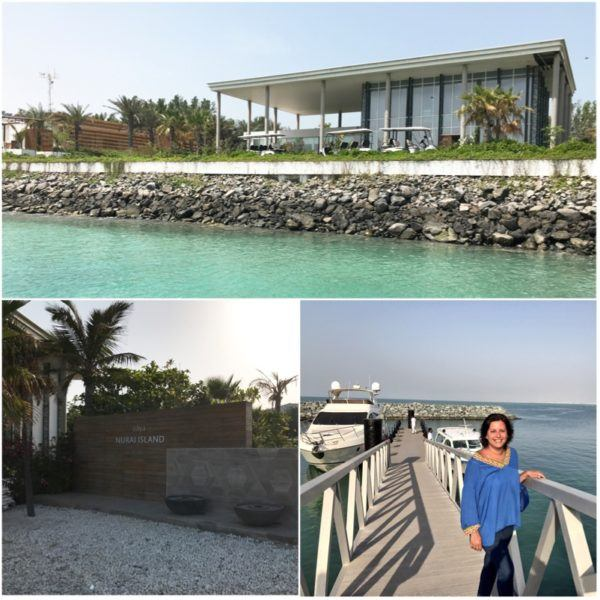 private island abu dhabi zaya nurai day trip ana boat saadyiat island hotel reception