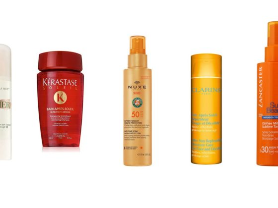 luxury sun care products kerastase nuxe clarins la mer lancaster