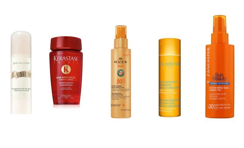 luxury sun care products kerastase nuxe clarins la mer lancaster