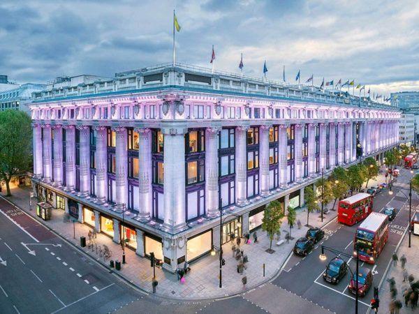 mini map guide to london shopping selfridges