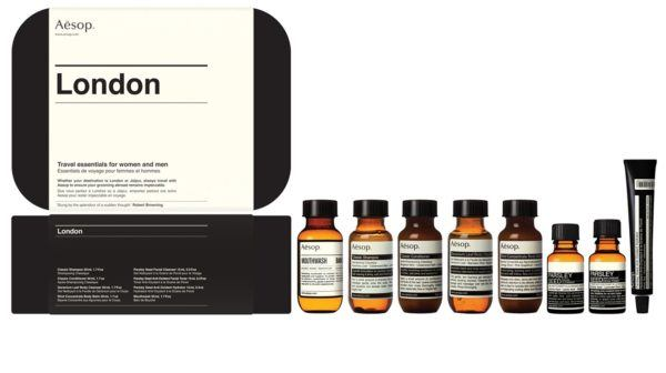 beauty travel set travel size beauty products aesop london travel kit men and women