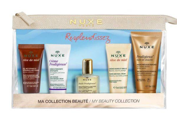 beauty travel set travel size beauty products nuxe my beauty travel set
