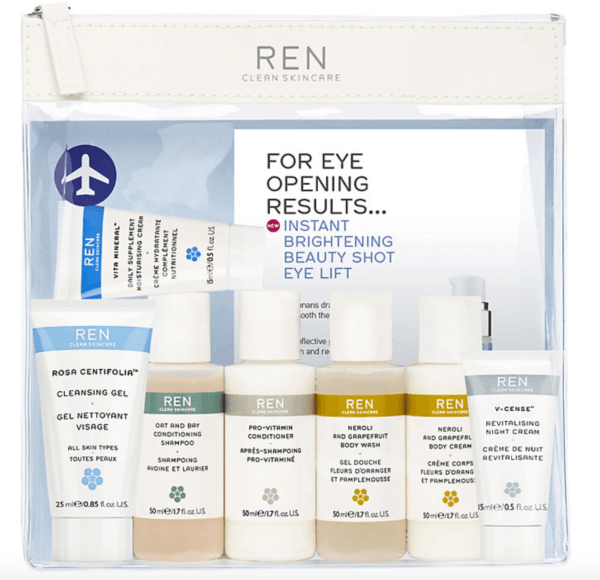 beauty travel set travel size beauty products ren Grab Go Travel Kit