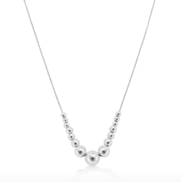 mappin webb Sonnet Silver 4-10mm Bead Pendant