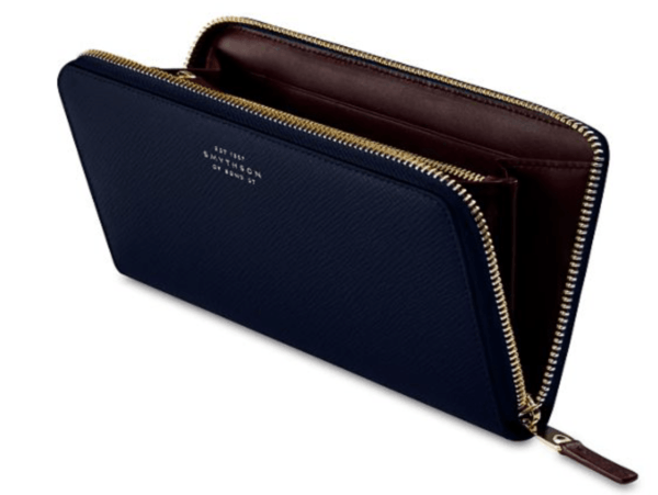 smythson PANAMA LARGE ZIP PURSE